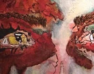 """Santanico"" painting by Eiza Gonzalez & Robert Rodriguez. Photography by Nicolette Mallow."
