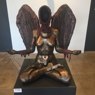 """Lotus Series - The Void - Acceptance"" created by Chris Guarino. Original Cast Resin & Mixed Media Sculpture. $9,500."