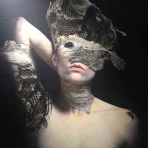 """Masquerade Series - The Bee Queen"" created by Chris Guarino. Limited Giclee on Canvas. $895."