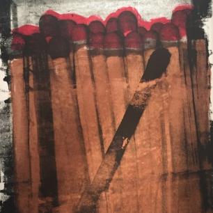 """Matchbook"" created by Brandon Snow. Original Silk Screen & Acrylic on Canvas. $2,750."