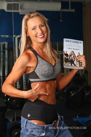 Bikini bodybuilder Lisa Traugott. Photography by Sal Robes Photography.