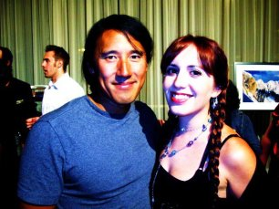 Jimmy Chin and Nicolette Mallow at Nat Geo banquet in Washington DC.